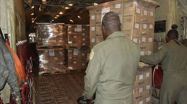 NAF Begins Airlift of Electoral Materials for INEC