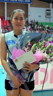 Cựu nữ tuyển thủ QG - Cẩm Tú tái xuất ở đội nữ Truyền hình Vĩnh Long