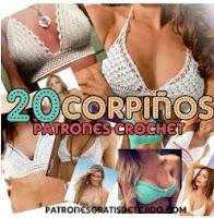 20 patrones de corpiños crochet