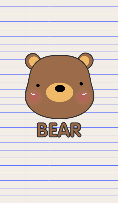Simple Bear On Paper theme V.2