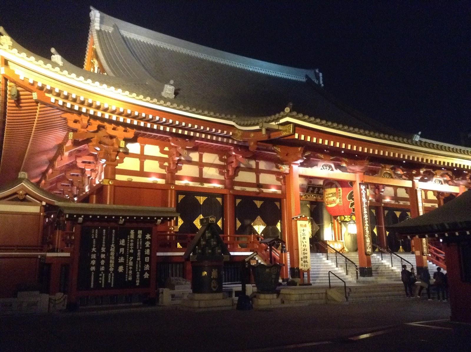 Tokyo Asakusa at night