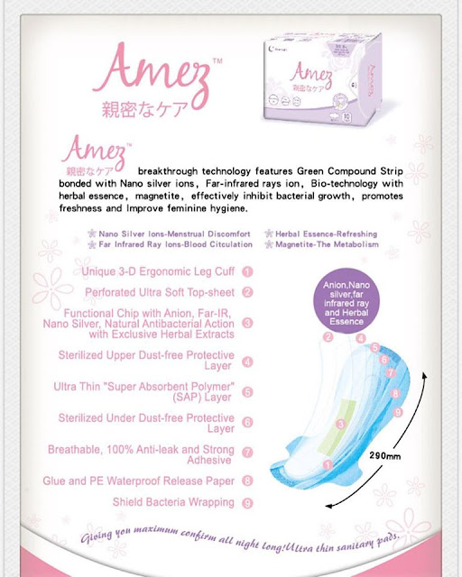 amez care bio herbal sanitary pad
