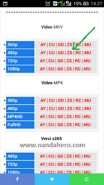 pilih format video di samehadaku yang akan diunduh
