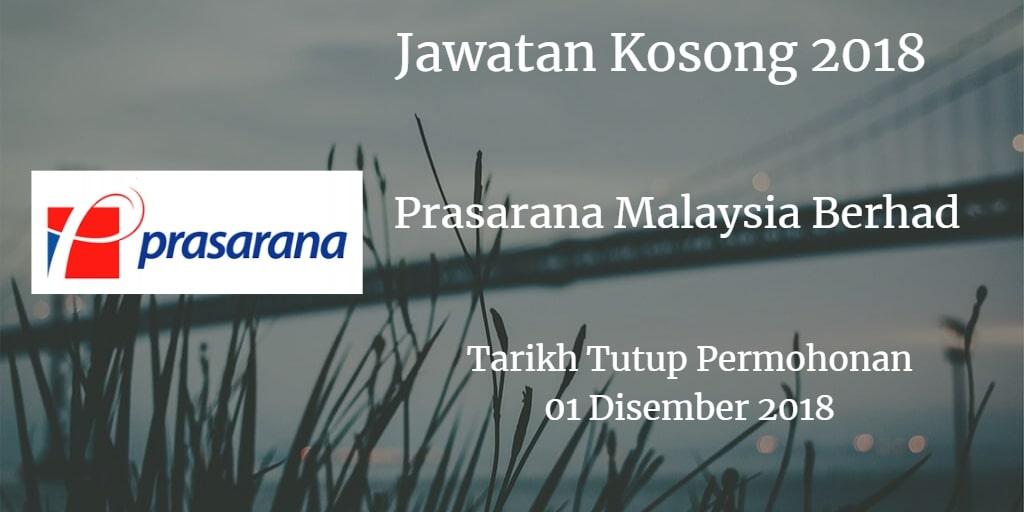 Jawatan Kosong Prasarana Malaysia Berhad 01 Disember 2018