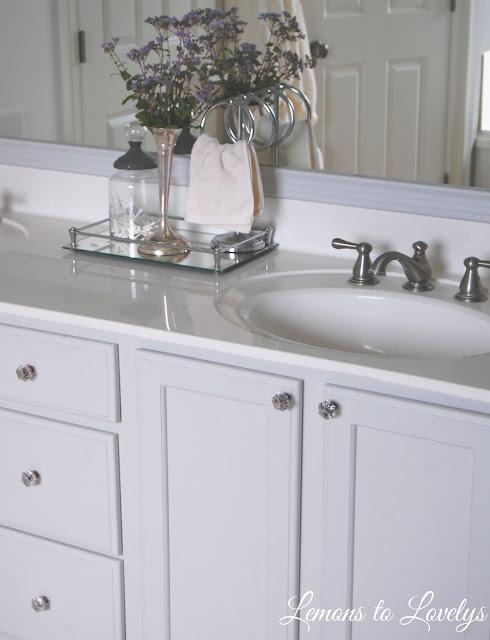 Bathroom Cabinet Makeover - Stonington Gray by BM - See more pictures on lemonstolovelys.blogspot.com