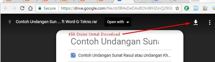 Download File Contoh Undangan Sunat Rasul Atau Undangan Khitanan