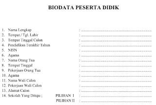 Download Formulir Peserta Didik Baru Tahun Pelajaran 2017/2018 Format Word