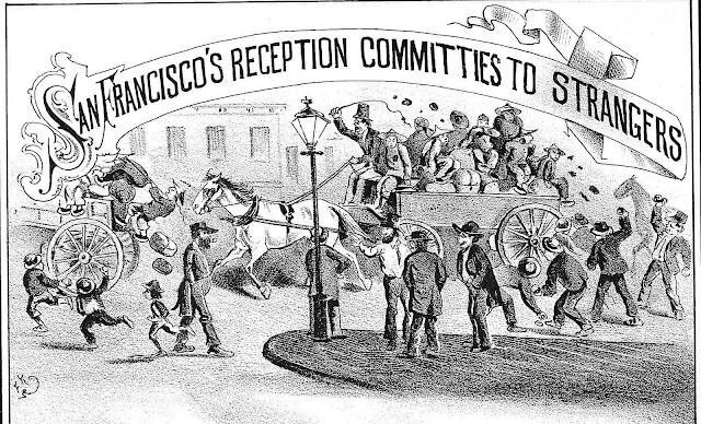 1876 San Francisco racism, an illustration
