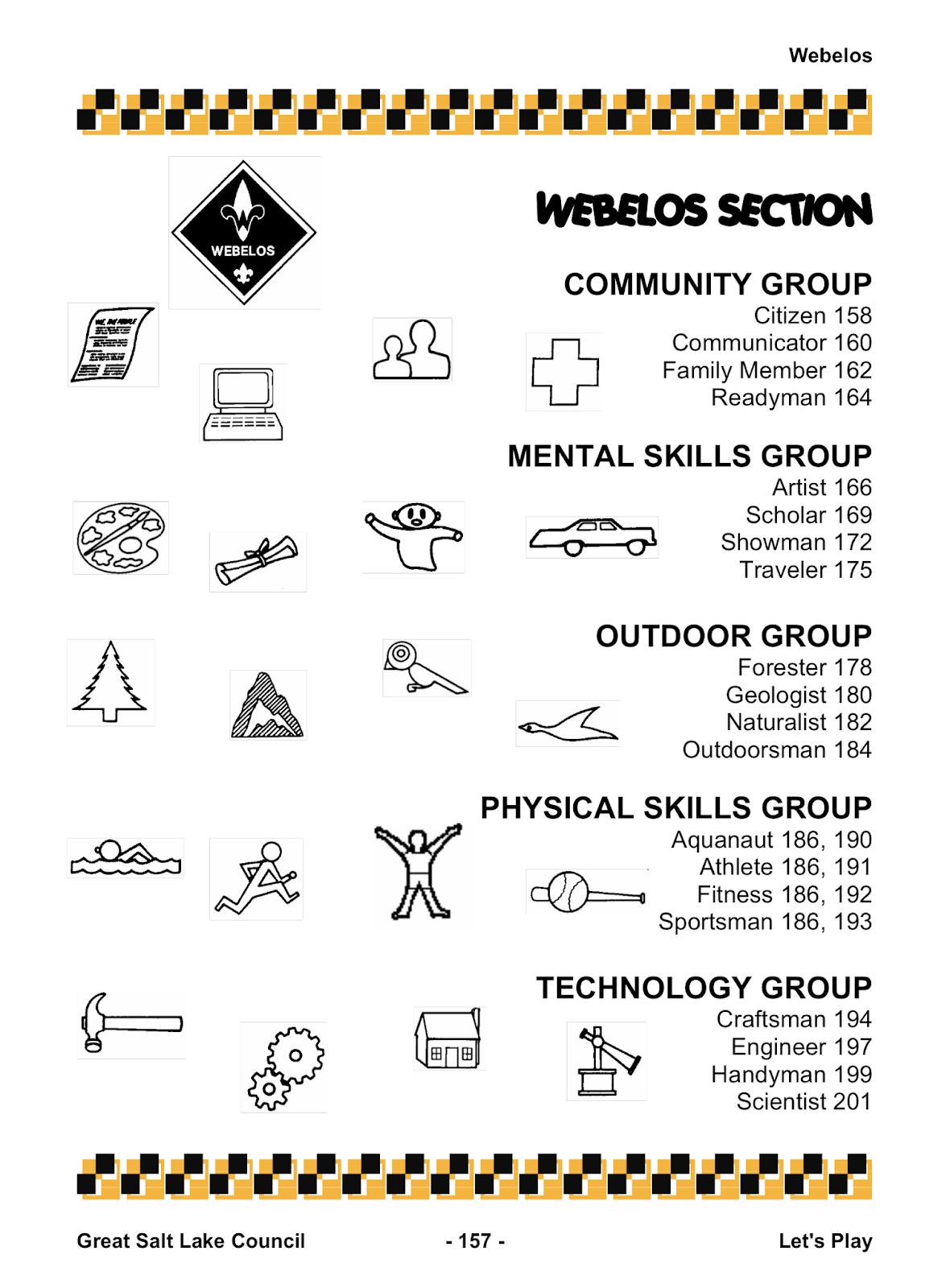 Akela S Council Cub Scout Leader Training Webelos Section