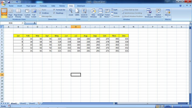 Interface Excel