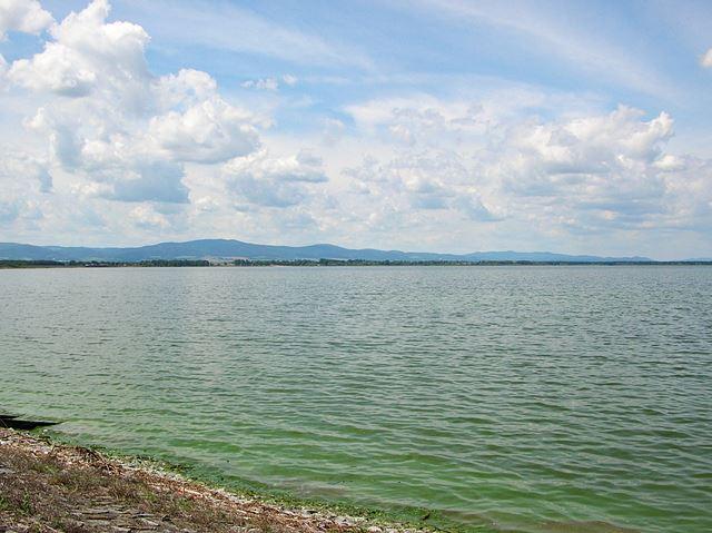 sztuczny zbiornik, wędkarstwo, góry, wypoczynek