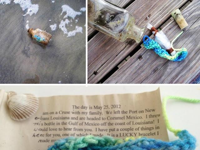 Uma mensagem dentro de uma garrafa