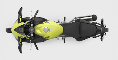 2016 Honda CBR300R top view