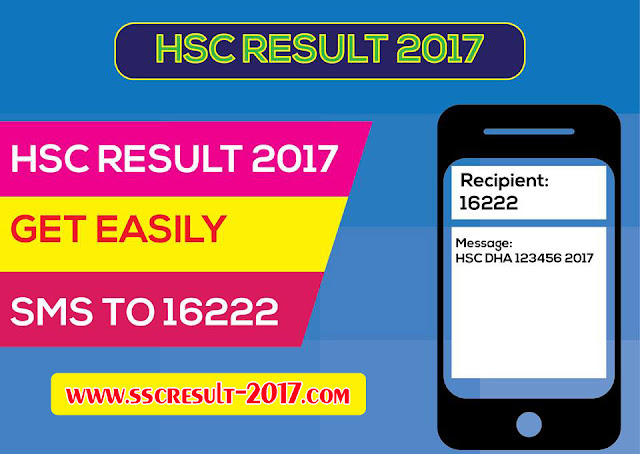 HSC Result 2017 By SMS