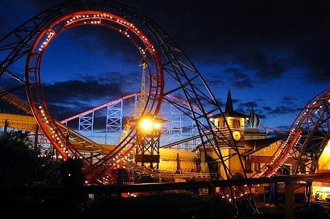 Parque Pleasure Beach em Blackpool