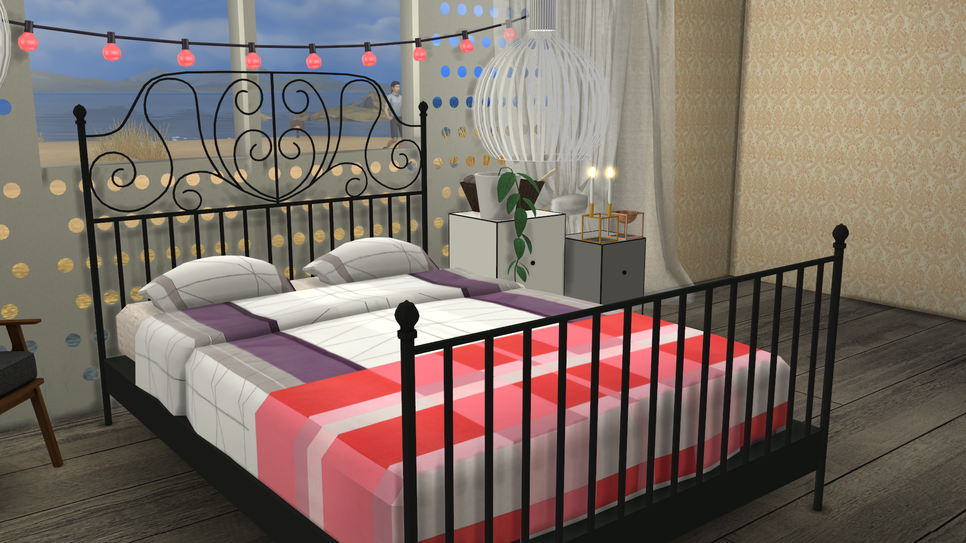 sims 4 cc 39 s the best ikea leirvik bed frame and hay bed linen by minc78. Black Bedroom Furniture Sets. Home Design Ideas
