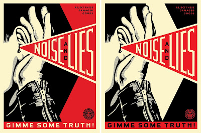 "Obey Giant ""Noise & Lies"" Screen Print by Shepard Fairey"
