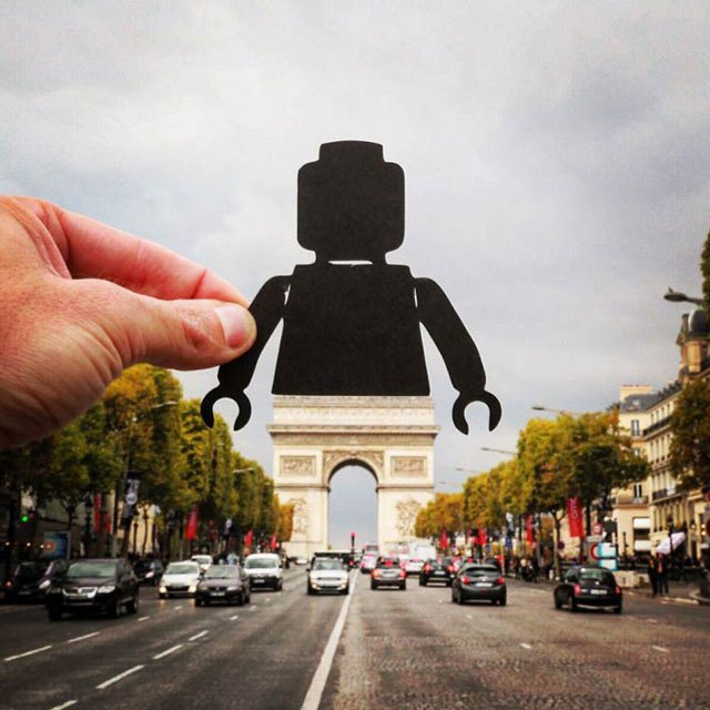 1. - Artist Adds Creative Twist To His Travel Photos with Paper Cut Outs