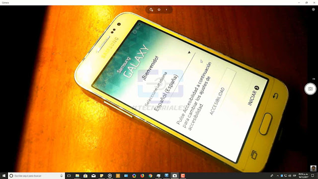 asistente de configuracion del Samsung Galaxy core prime lte
