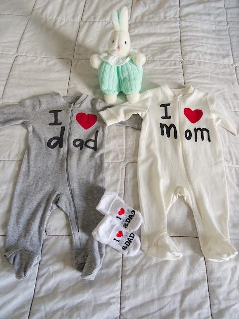 Ainu ensipupu, neulekuosi, I love mom, I love dad, vauva, yöpuku, Kapp Ahl,