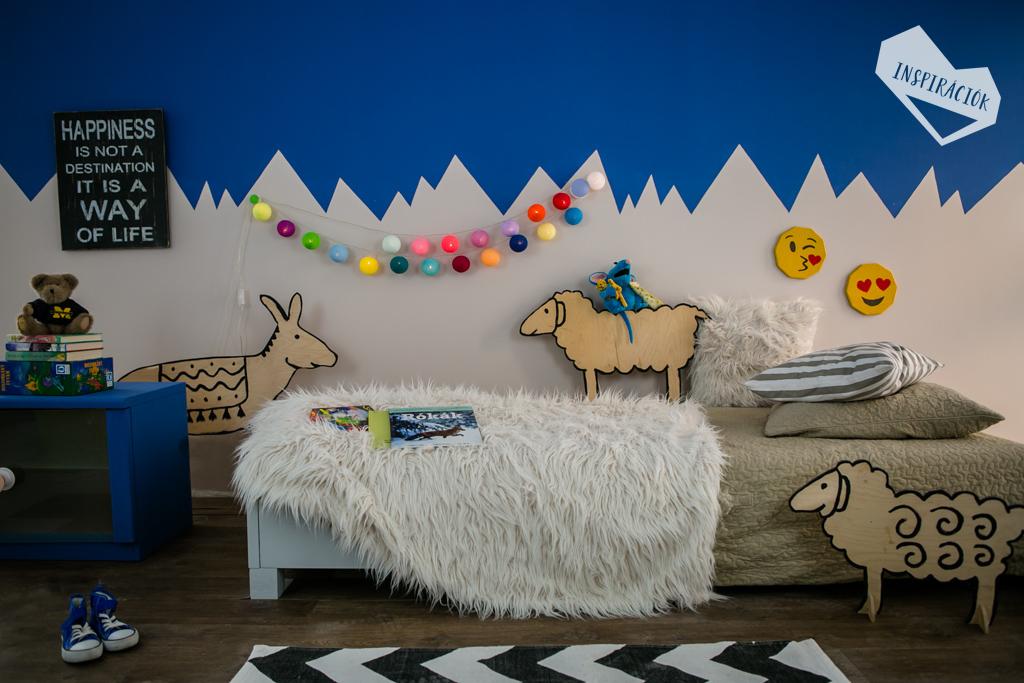 Kreatív falfestés  Egyedi gyerekszoba dekoráció  Inspirációk Csorba Anitától