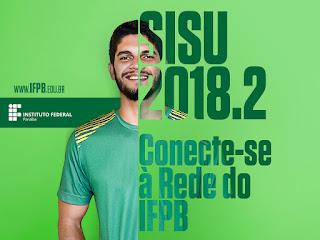 IFPB inicia pré-matrícula para aprovados no Sisu 2018.2