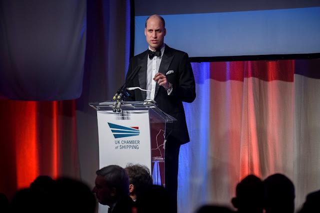 Książę William na przyjęciu UK Chamber of Shipping w Londynie