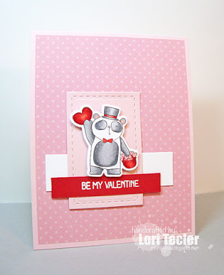 Be My Valentine card-designed by Lori Tecler/Inking Aloud-stamps and dies from Lil' Inker Designs