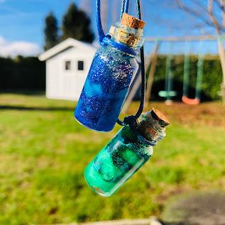 diy, activité, activité créative, galxie, mini galaxie, galaxie en bouteille, idée, enfants, cadeau, noel, folle blogueuse