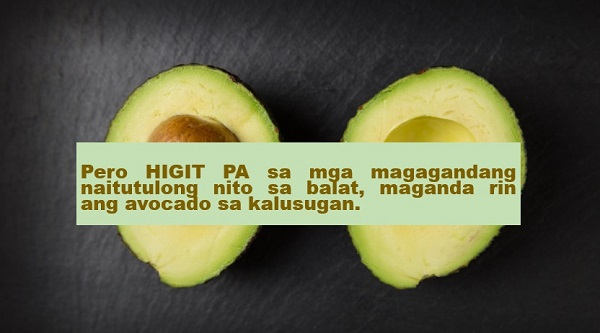 Walang pera pambili ng beauty products na may glutathione? Kumain ka na lang ng avocado!  To achieve a fairer and younger looking skin, many people spend a lot of money on expensive beauty products with glutathione--not knowing that there is a delicious fruit with lots of glutathione in it.     Advertisement    According to the research conducted by National Cancer Institute in the mid-1990, 30 grams of avocado contains 8.4 milligrams of glutathione. A person can absorb the maximum amount of glutathione from avocados if eaten raw.         Per serving, avocados contain almost three times more glutathione than spinach; and only slightly less than asparagus, the vegetable with the highest known glutathione concentration.        It was also disclosed that people with low levels of glutathione were more likely to develop oral cancer.     In addition, a high intake of glutathione from food like avocados may significantly lower a person's risk of having pharyngeal cancer.        But despite the many benefits that one can get from eating avocado, excessive intake of such fruit is still not recommended. Too much avocado could result to weight gain.     Find out what happens when you eat one avocado a day:      This article was filed under Health, Health news, Healthy life news, Newshealth, Healthy Living, Health blogs, Health benefits, Beauty, Skin, Anti-aging, Food and Drinks, Fruit, and Avocado.  Read more: THE ONES YOU DON'T EXPECT: 7 FOOD AND DRINKS THAT WILL MAKEYOU LOOK YOUNGER    NOT JUST A REFRESHING DRINK: 13 AMAZING HEALTH BENEFITS OF COCONUT WATER    11 REASONS WHY YOU SHOULD EAT OKRA FOR GOOD HEALTH         ©2018 THOUGHTSKOTO  www.jbsolis.com