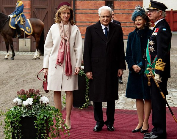 Crown Princess Victoria wore By Malina Ginger dress, Princess Sofia wore Hugo Boss Darera business dress
