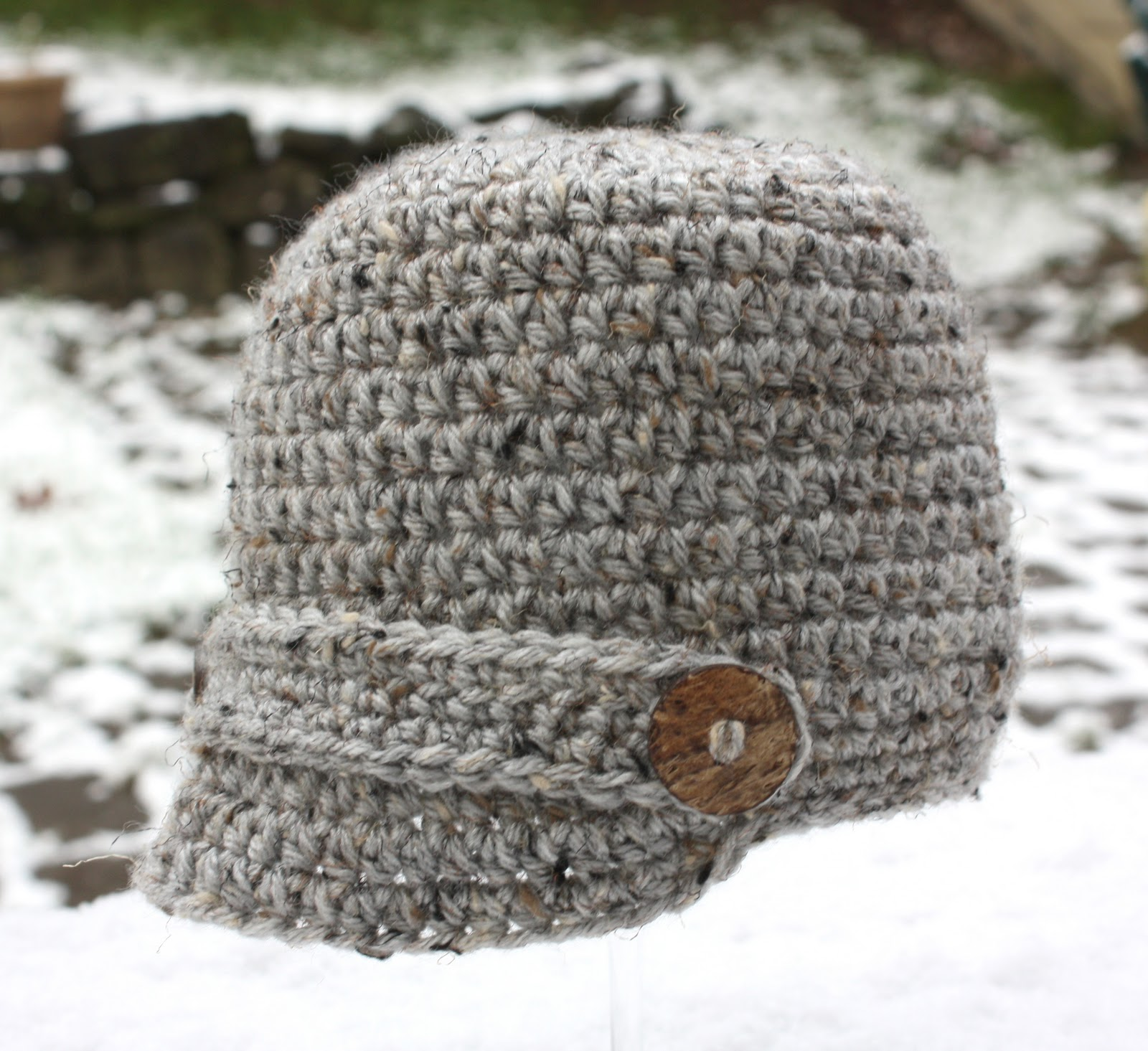 Free Crochet Pattern Beanie With Brim : Crochet Brimmed Hat - Repeat Crafter Me