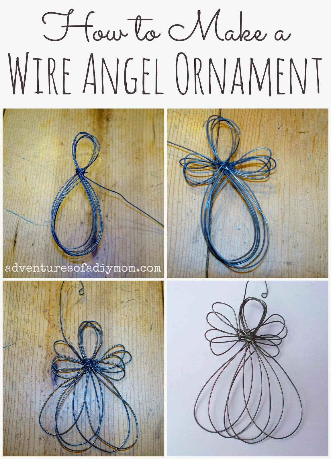 How to Make a Wire Angel Ornament - Nativity Ornament ...