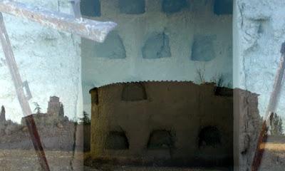 imágenes superpuestas del palomar y los acostaderos