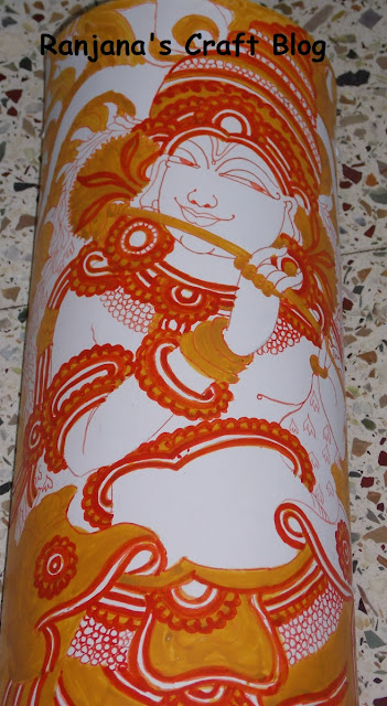 Kerala Mural on Bamboo