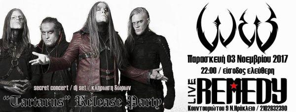 "W.E.B.: ""Tartarus"" release party - Παρασκευή 3 Νοεμβρίου @ Remedy"