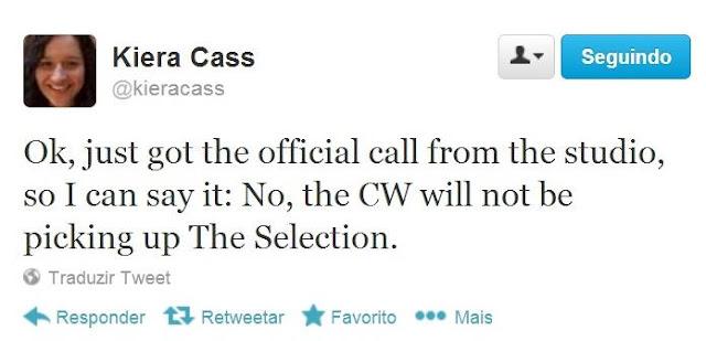 News: CW recusou o piloto da serie The Selection 6
