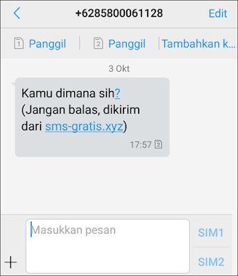 Cara Kirim SMS Gratis Sepuasnya All Operator Tanpa Daftar