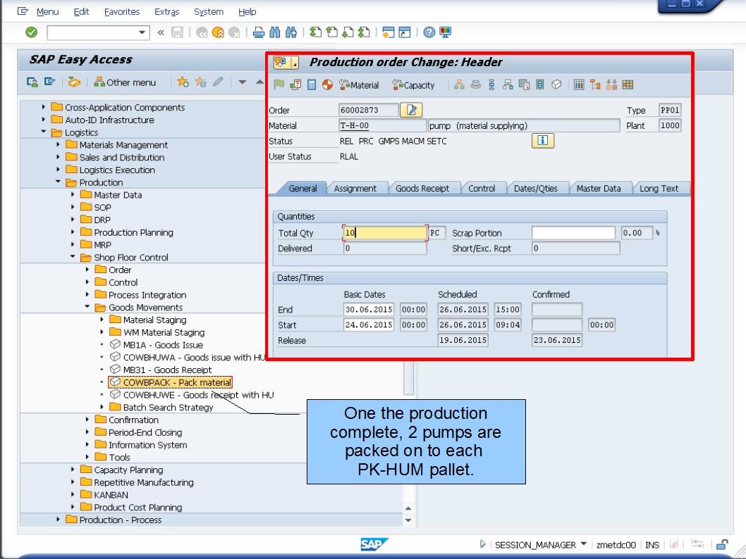 青蛙SAP学习和考试 Learning & Examination: HU PP Production Order ...