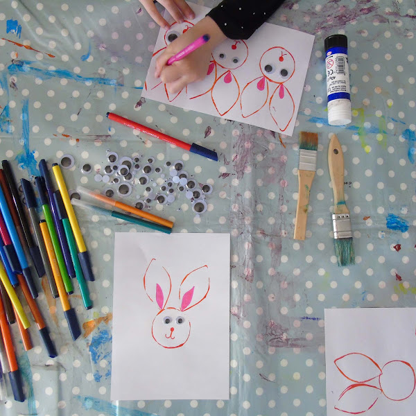 easter bunny crafting project for children
