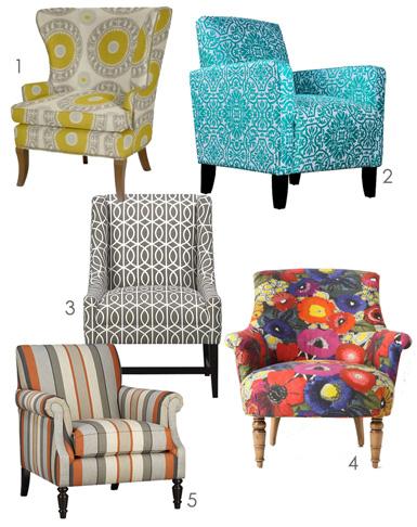 Belle Maison Fresh Ideas Patterned Upholstery