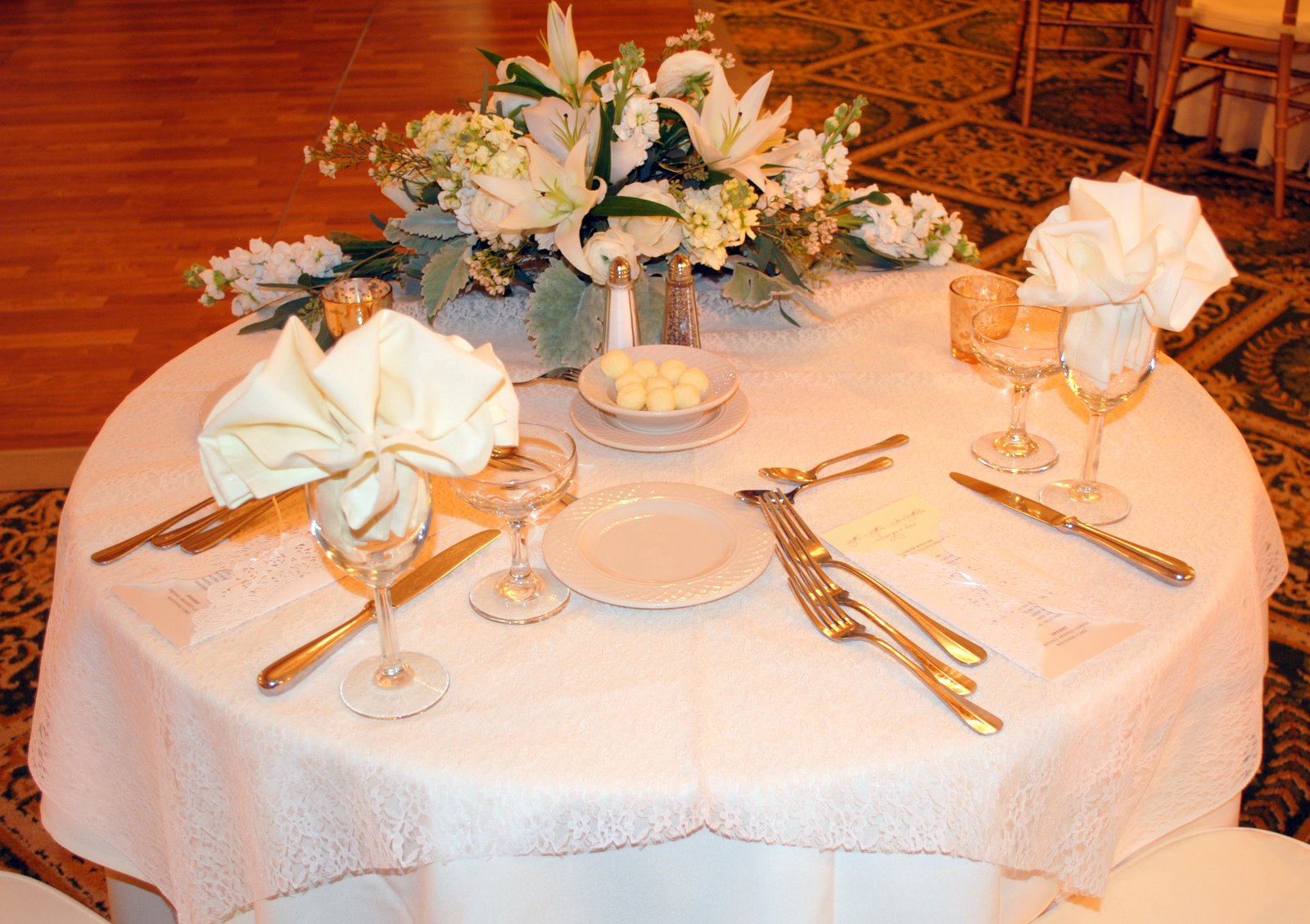 Special Touches Add To A Beautiful Ballroom Wedding