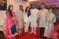 Sachin Tendulkar with his wife at Mata ka Jagrata hosted by Anu Malik 41.JPG