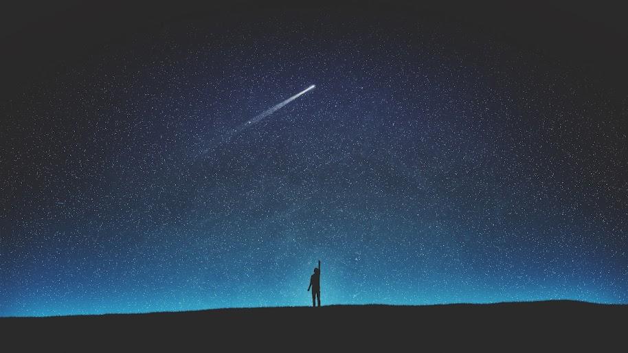Night, Sky, Stars, Scenery, Comet, 4K, #185