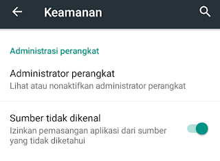 Cara menginstal file APK di Android