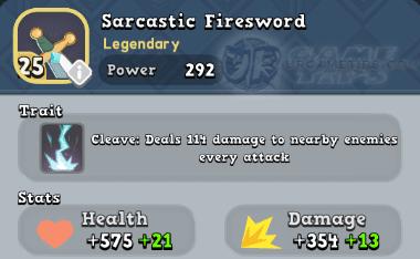 World of Legends Sarcastic Firesword