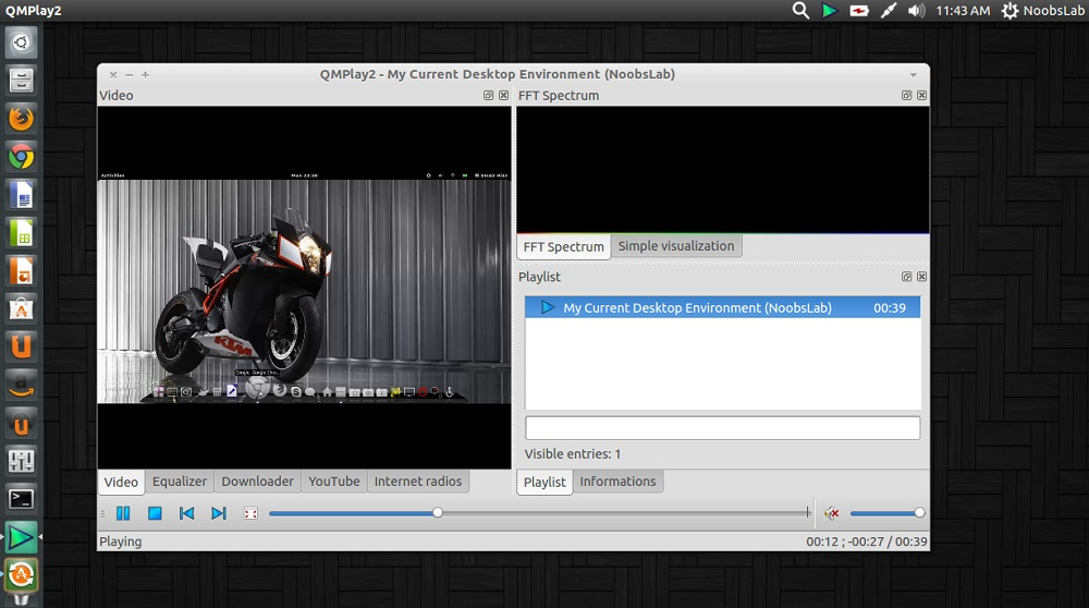 QT-based QMPlay2 Media Player for Ubuntu/Linux Mint/other