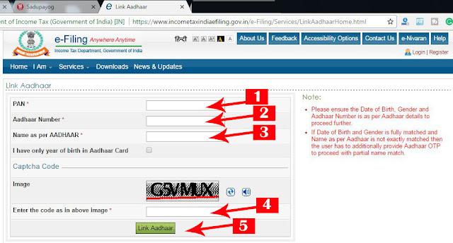 Link Aadhar to PAN, Link PAN Card to Aadhar