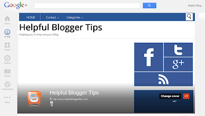 Helpful Blogger Tips Google+ profile header