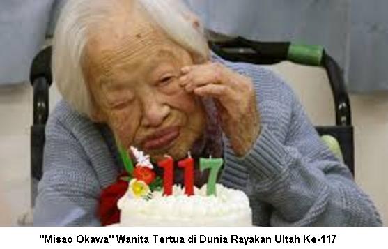 """""""Misao Okawa"""" Wanita Tertua di Dunia Rayakan Ultah Ke-117"""
